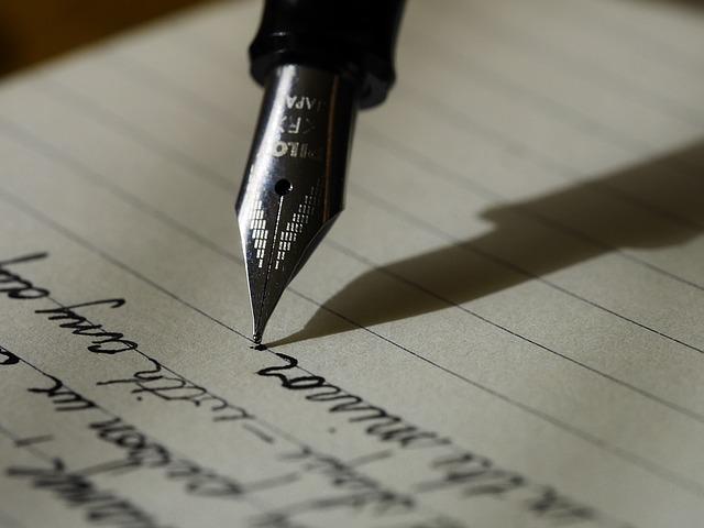 psaní perem